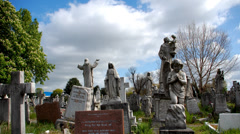Graveyard. Cemetery. Time-lapse. London Stock Footage