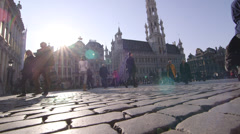 Grant Place in Brussels Stock Footage