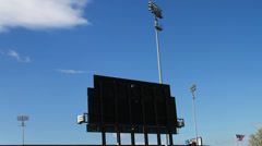 Baseball Stadium with Blue Skys Stock Footage