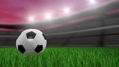 Soccer ball loop - stock footage