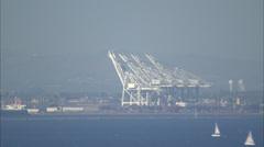 Cargo Ship Harbor Stock Footage