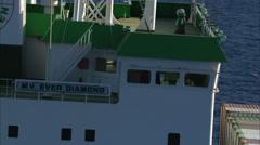 Cargo Ship Open Seas Stock Footage