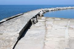 A big pier on the Adriatic sea Stock Photos