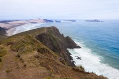 Northland sand beach near cape reinga new zealand Stock Photos