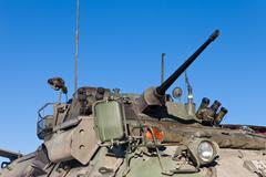 Operational military armored tank turret gun Stock Photos