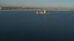 Ocean Island Long Beach Stock Footage