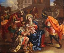 Nativity Scene, Adoration of the Magi Stock Photos