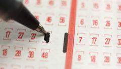 Lottery Ticket Lucky Numbers Macro - stock footage