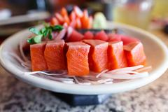 Japanese food sashimi set Stock Photos