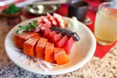 japanese food sashimi set - stock photo