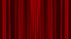 4k opening of red curtain with alpha chanel included Stock Footage
