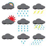 Rain season symbol - stock illustration
