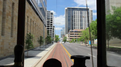 Trolley Ride Dallas Stock Footage