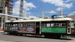Vintage McKinney Avenue Transit: Trolley on Turntable Stock Footage
