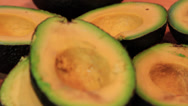 Stock Video Footage of Close up of cut Avocado