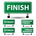 Stock Illustration of finish sign