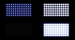 Amazing Lightwall with Optical Flares Stock Illustration
