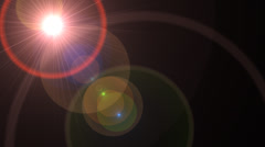 Lens Flare Transition Flash Wipe rings alpha 1 - stock footage