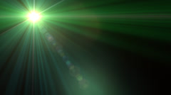 Lens Flare Transition Flash Wipe green alpha 1 - stock footage