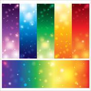 Template card colorful element design Stock Illustration