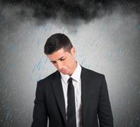 Pessimist businessman for the crisis Stock Illustration