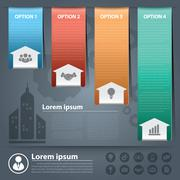 Arow business infographics Stock Illustration