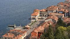 Arona italian town. Overview inTime-lapse Stock Footage