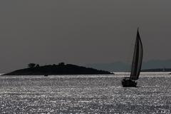 Moonlight on the sea - stock photo