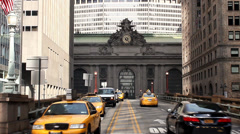 Traffic in front of Grand Central Station, New York City Stock Footage