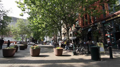 Pioneer square - people Stock Footage