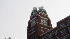 2 angles - Starbucks world headquarters Seattle Stock Footage