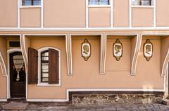 Old pharmacy house in the old town of Plovdiv, Bulgaria - stock photo