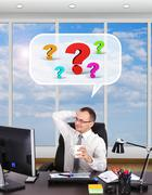 ponders problem - stock illustration