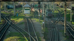 The train transports oil - stock footage