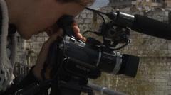 Cameraman at his job Stock Footage