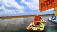 Barrier reef in Porto de Galinhas, Recife, Pernambuco - Brazil Stock Footage