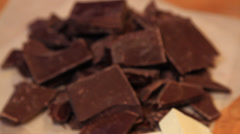 Creamy Dark Delicious Chocolate Stock Footage