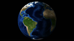Earth rotating globe Stock Footage