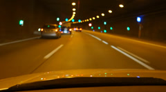 driving through a tunnel - stock footage