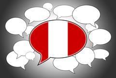Stock Illustration of communication concept - speech cloud