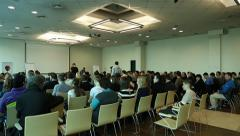 People at business seminar - stock footage