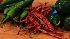 Camera Zoom of Chili Pepper Stock Footage