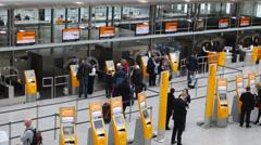 Munich airport Stock Footage
