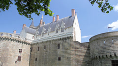 Castle in Nantes, France Stock Footage