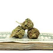 Marijuana and money Stock Photos