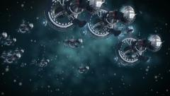 Alien spaceships invasion Stock Footage