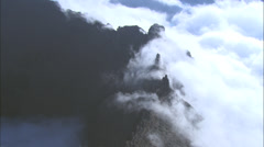 Mountain Rage and Valley Lake - stock footage