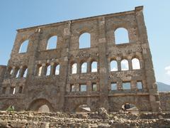Roman Theatre Aosta Stock Photos