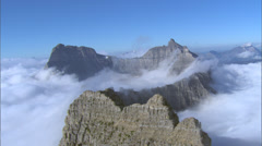 Cloudy Mountain Range Valley - stock footage