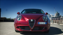 Alfa Car Front Slide Stock Footage